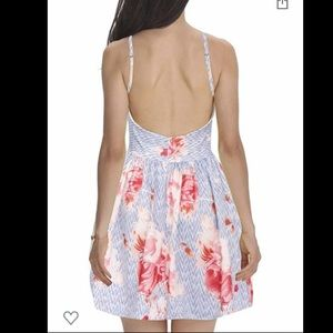 Fancyin Sexy Backless Spaghetti Strap Floral Dress